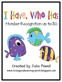 I Have, Who Has - Number Recognition