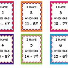 I Have Who Has Subtraction Facts