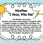 """I Have, Who Has"" Weather Game"
