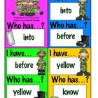 I Have...Who Has...? Game - Basic Sight Words.6