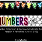 I Know My Numbers! Activities to Teach, Reteach & Remediat