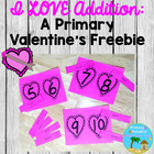 I LOVE Addition: Primary Valentine's Freebie