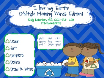 I Love My Earth {Multiple Meaning Words Edition}  FREEBIE