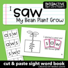 "Interactive Sight Word Reader ""I Saw My Bean Plant Grow"""