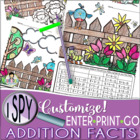 I Spy Addition Facts ~SPRING Edition~