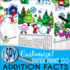 I Spy Addition Facts (up to 20) ~Winter Edition~