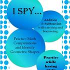 I Spy Game! Addition and Subtraction with carrying & borrowing