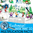I Spy Multiplication Facts ~Winter Edition~