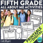 I am a Fifth Grader: A 10-Page, No Prep, Back-to-School Ac
