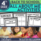 I am a Fourth Grader: A 10-Page, No Prep, Back-to-School A