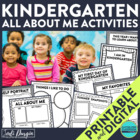 I am in Kindergarten: A 10-Page, No Prep, Back-to-School A