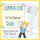 """I can"" Statements for Common Core - Grade 1"