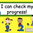 I can check my progress! 0-4 kid-friendly scale posters