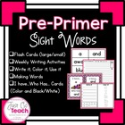 I have... Who has....? Sight Word Cards for Pre-primer List