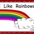 I like Rainbows Sight Word Reader