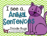 I see... Animal & Color Word Sentences