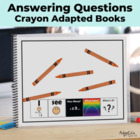 How Many? Color? What? Crayon Adapted Book Special Educati