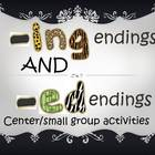 ING and ED endings centers work with worksheets, task card