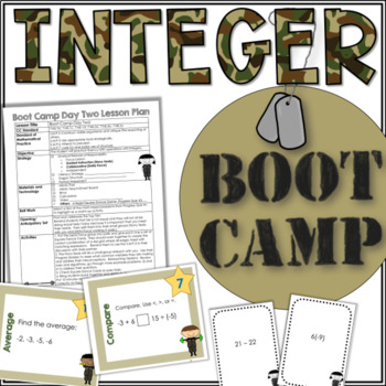 INTEGER Boot Camp- 5 Day Unit Bundle to Improve Fluency with Integer Operations