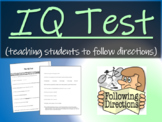 IQ Test (teaching students to follow directions)