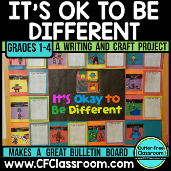 IT'S OK TO BE DIFFERENT: Writing Project/Bulletin Board Pack