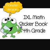 IXL Math Sticker Book for 4th Grade (Monster Version) Comm