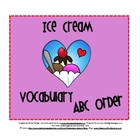 Ice Cream ABC Order Activity