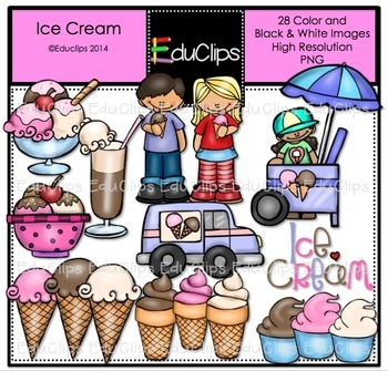 Ice Cream Clip Art Bundle