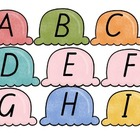 Ice Cream Lower and Upper case Alphabet match
