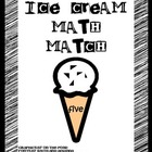Ice Cream Math Match