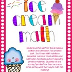 Ice Cream Math (Timed Addition and Subtraction Fact Drills)