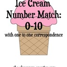 FREE Ice Cream Number Match File Folder Game