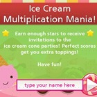 Ice Cream Party - Multiply by 7's - free app for your computer