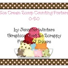Ice Cream Scoop Counting Posters (0-20)