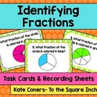 Identifying Fractions Task Cards & Recording Sheets, CCS: 3.NF.1a