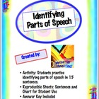 Identifying Parts of Speech Activity Handouts: Sentences,