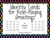 Identity Cards for Role-Playing Greetings (Los Saludos) in