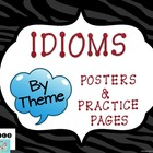 Idioms: Posters and Practice Sheets by THEMES