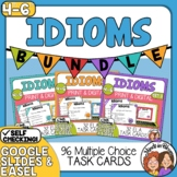 Idioms Task Cards: 3 Set Bundle (96 Cards Total) for CCS L