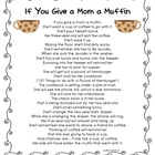If You Give a Mom a Muffin Poem-Freebie