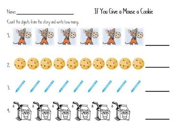 If You Give a Mouse a Cookie Counting and Letter Sound Activity