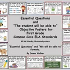 Illustrated Common Core ELA Essential Questions Posters fo