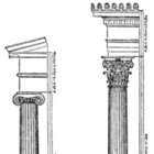 Illustration of Ionic and Corinthian Architectural Orders