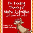 I'm Feeling Thankful! Math Activities (CCSS Aligned w/2nd Grade)