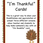 I'm Thankful Cards