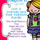 Imagine It Unit 2 Animals and Their Habitats Pack Grade 3