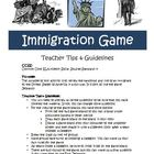 Immigration Game Activity with Answer Key Common Core  Standards