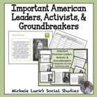 Important American Leaders, Activists, Groundbreakers Biog