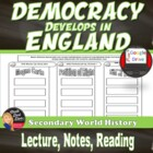Democracy Develops in England & Important Documents Lectur