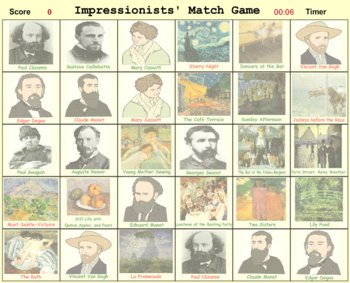 Impressionists' Match Game - Bill Burton